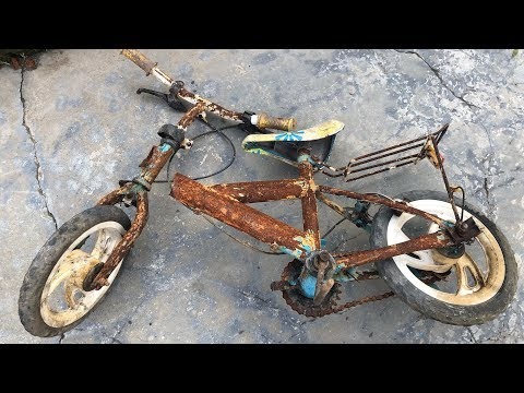 Very old baby bicycle restoration | Restore super old mini bikes (PART 2 ) thumbnail