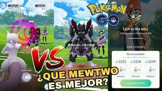 ¡MEWTWO NORMAL VS MEWTWO CON ARMADURA! ¿QUIEN GANARA? POKEMON GO!