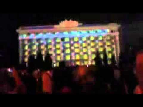 Лазерное шоу в Харькове 23.08.2013. Проекционное шоу на площади Свободы!