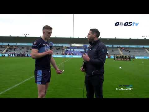 The Go Ahead Man of the Match- St Judes' Tom Lahiff- speaks to DubsTV after win over Thomas Davis