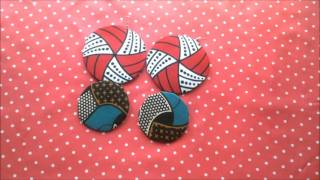 Gambar cover African print fabric (Ankara) earings (Yemi alade Johny video inspired)