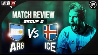 Argentina 1 - 1 iceland - full time phone in - fanpark live