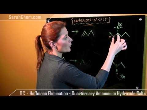 Hoffmann Elimination   Quarternary Ammonium Hydroxide Salts