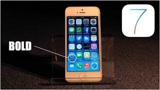 Hidden iOS7 Trick : Make text BOLD !