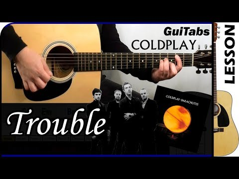 How to play Trouble 😔 - Coldplay / Guitar Tutorial 🎸