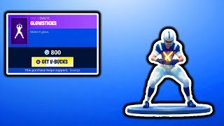 FORTNITE NEW GLOWSTICKS EMOTE & NFL SKINS RETURN! FORTNITE ITEM SHOP UPDATE! FREE VBUCKS GIVEAWAY