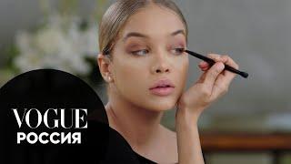Жасмин Сандерс показывает как сделать макияж smoky eyes