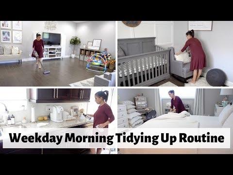 weekday-morning-tidying-up-routine