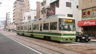 【行先表示機LED化】広島電鉄3900形3901号『ぐりーんらいなー』小網町〜土橋
