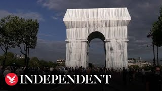 Arc de Triomphe wrapped in new art installation