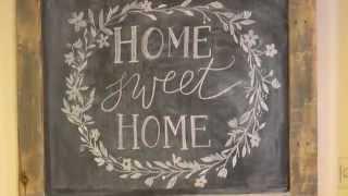 Diy Rustic Pallet Wood Chalk Board