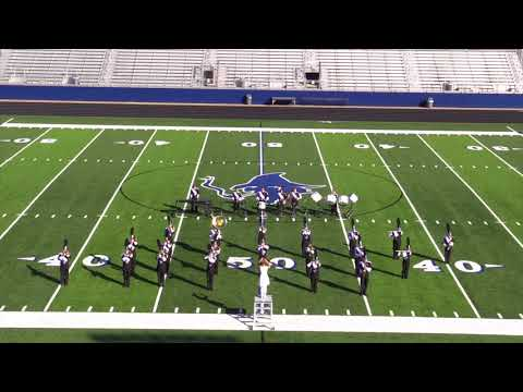 Cotter High School Band performs at Region VI Marching Assessment