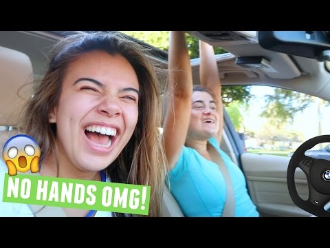 DRIVING WITH CLOE AND ADELAINE!!😱
