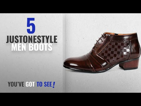 Top 10 Justonestyle Men Boots [ Winter 2018 ]: New Mens Oxford Dress Formal Leather Lace up Ankle