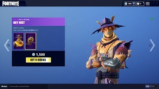 "Fortnite: Item Shop *NEW* ""Hay Man"" and ""Straw Ops"" skins(10/7/18) Shot with GeForce #nBKg #sk8NPLay"