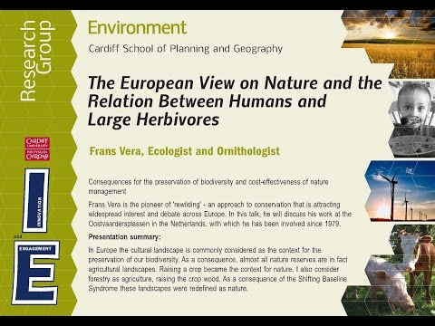 The European View on Nature - ENVIRONMENT RESEARCH GROUP SEMINAR