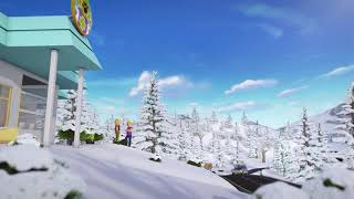 Lego Friends snow way trailer