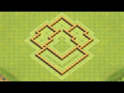 Clash of Clans Town Hall 5 Defense (CoC TH5) BEST Hybrid Base Layout Defense Strategy
