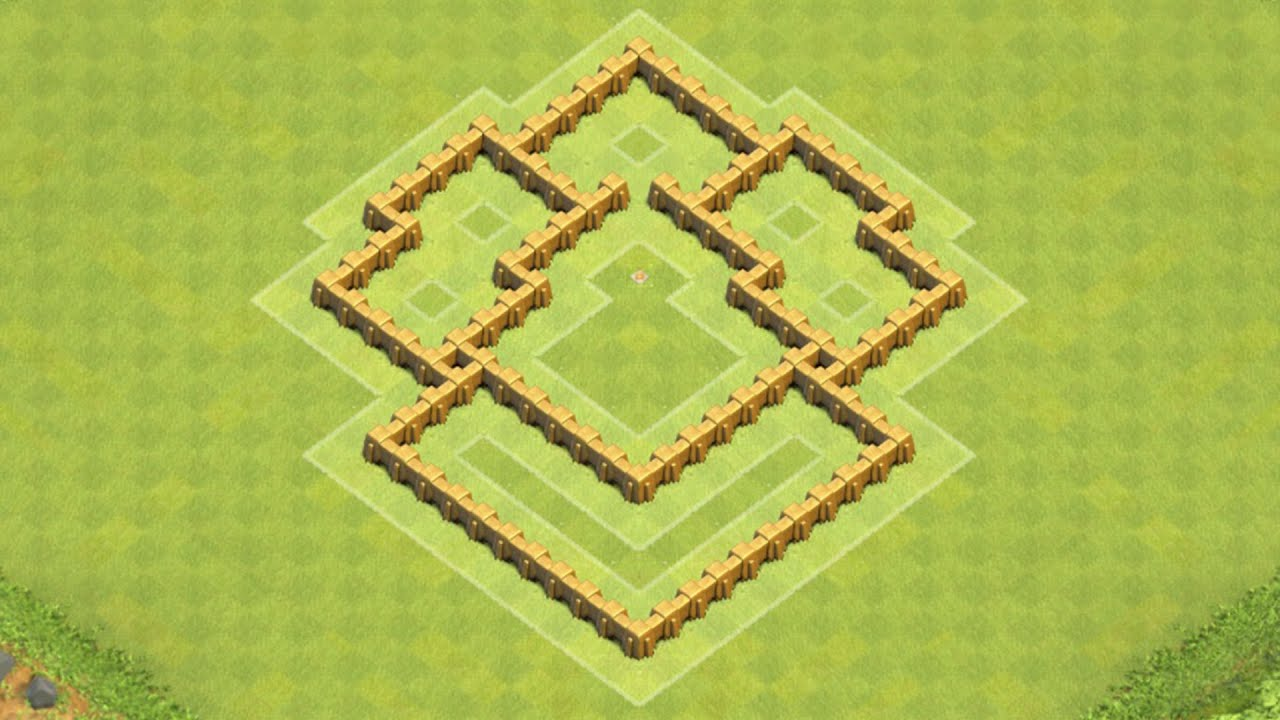 Clash of clans town hall 5 defense coc th5 best hybrid base layout