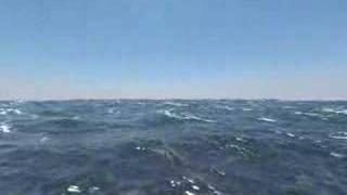 A Ocean Water Waves Animation Thunder Lighting Rain