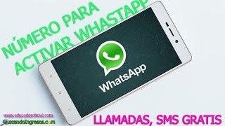 Como obtener un Numero virtual para whatsapp 2018, (Llamadas, SMS etc)