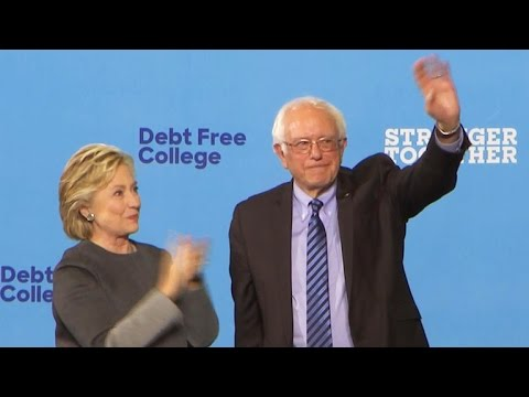 Full video: Hillary Clinton and Bernie Sanders team up