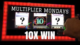 10 X WIN on Bonus Times ✦ MULTIPLIER MONDAYS ✦ Live Play Slots / Pokies in Las Vegas