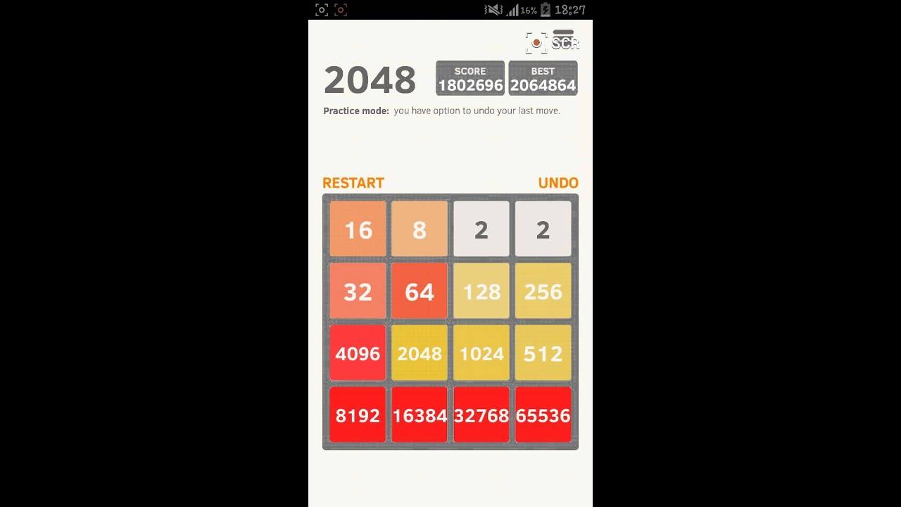 Record mondiale (world record) 2048 score 2064892 - YouTube