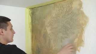 Фактурная декоративная штукатурка La Patine du tempe от Paritet Decor(Гладкая тонкорельефная фактурная штукатурка. Ее пластичность и легкость дают мастеру возможность реализо..., 2014-04-21T16:56:26.000Z)