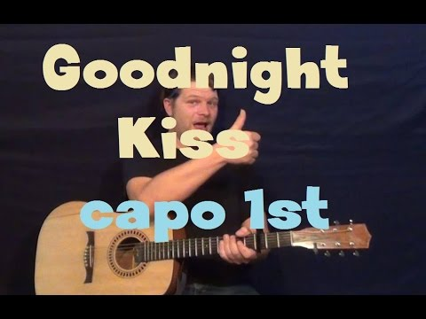 Goodnight Kiss (Randy Houser) Easy Guitar Lesson Strum Chord How to Play Tutorial