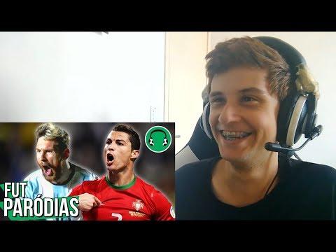 React -♫VAI TER MESSI E CR7 NA COPA, SIM|Paródia Cê Acredita-João Neto e Frederico(Part. MC Kevinho)