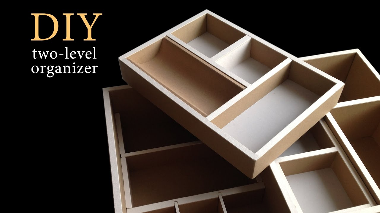 Corrugated Cardboard Furniture Diy How To Make A Two Level Cardboard Drawer Organizer Hd