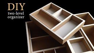 DIY How to make a Two-level cardboard drawer organizer HD (corrugated cardboard furniture)