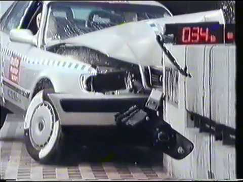 Audi 100 Auto Motor und Sport crash test safety comparison - 1992