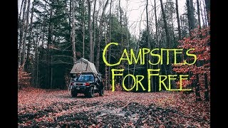 How to find FŔEE CAMPSITES everywhere!