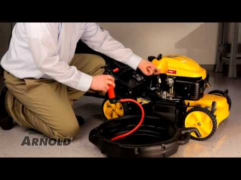 How To Change The Oil In A Walk Behind Mower Lawn Mower