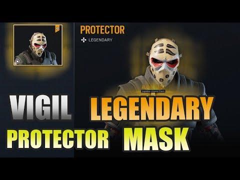 VIGIL LEGENDARY PROTECTOR MASK! Alpha Pack Showcase | Rainbow Six Siege