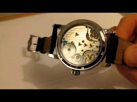 LUXURY BEIJING B24 DOUBLE BALANCE RESONANCE MOVEMENT RARE WHITE DIAL FOR SALE