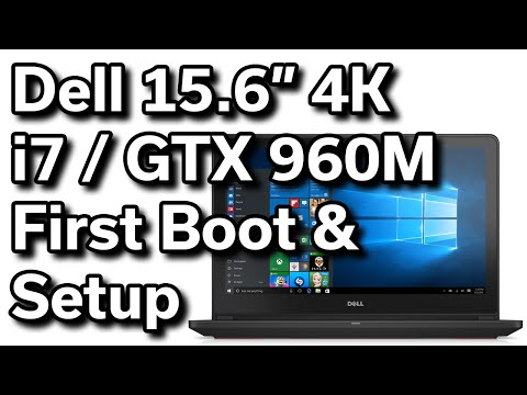First Boot & Setup - Dell Inspiron 15 - i7559 - $1,000 4K Gaming Laptop