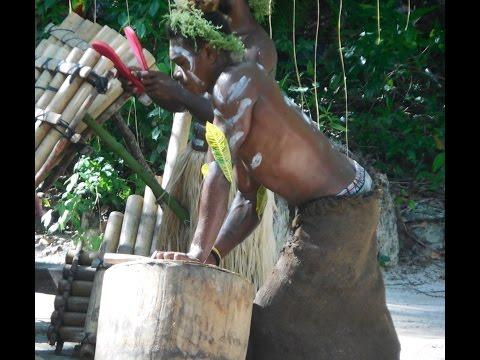Sandfly Village, Solomon Islands: Santa, Ship Wreck and Panpipe Performance   Oh my!