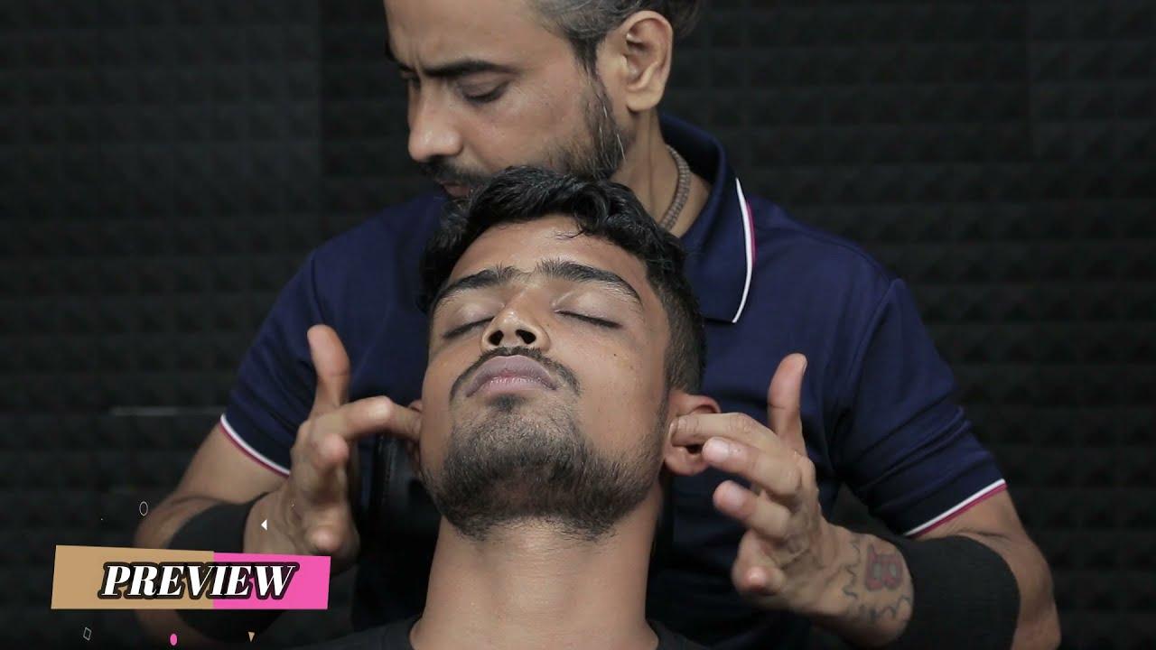 Super Satisfying Ear Itching Ear Fingering ASMR Head Massage With Neck Crack   Skin Crack 3d ASMR