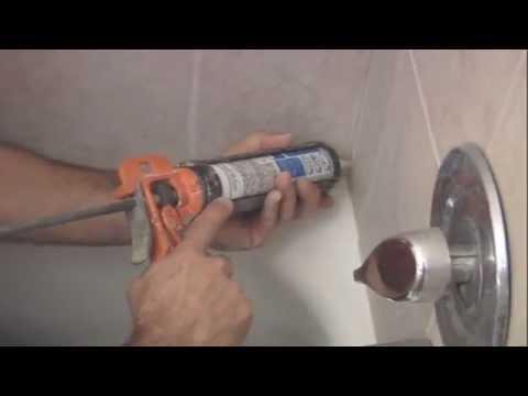 how to re caulk a shower youtube. Black Bedroom Furniture Sets. Home Design Ideas