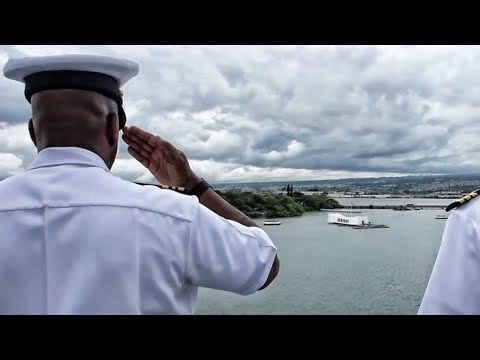 USS Bonhomme Richard Renders Honors At Pearl Harbor
