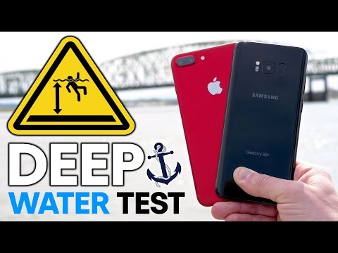 Galaxy S8 Plus vs 7 Plus DEEP Water Test! How Deep Before It Dies?