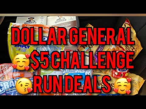 DOLLAR GENERAL $5 CHALLENGE AND RUN DEAL