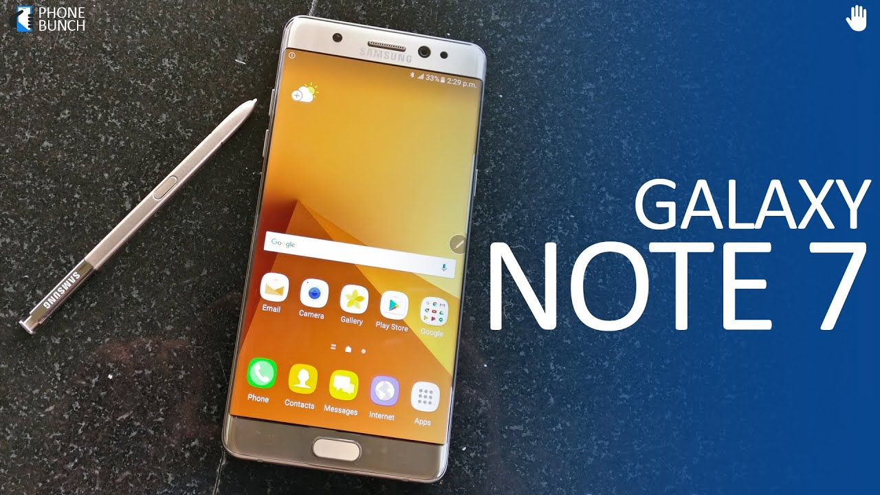 Samsung Galaxy Note 7 Dual-SIM (India) Hands-On and Top 5 ...