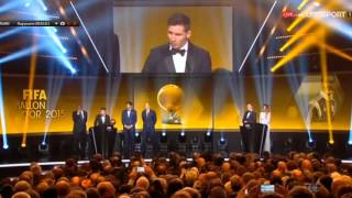 FIFA Balón De Oro 2015 // FIFA Ballon DOR 2015 // Lionel Messi