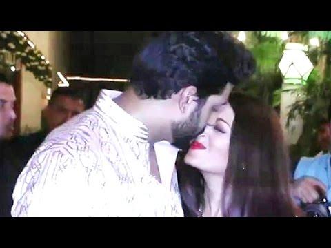 Abhishek kissing Aishwarya Rai In Public At Amitabh Bachchan's Diwali Party 2016