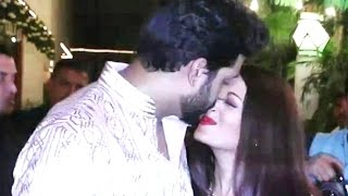 Abhishek kissing Aishwarya Rai In Public At Amitabh Bachchan's Diwali Party 2016