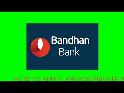 How to apply job for private bank